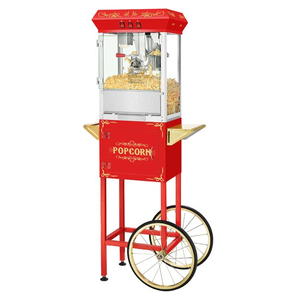 8 Oz. Movie Night Popcorn Popper Machine with Cart by Superior Popcorn Company