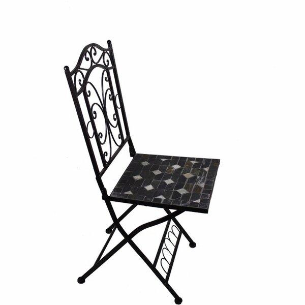 Gossage Mosaic Metal Patio Dining Chair by Fleur De Lis Living