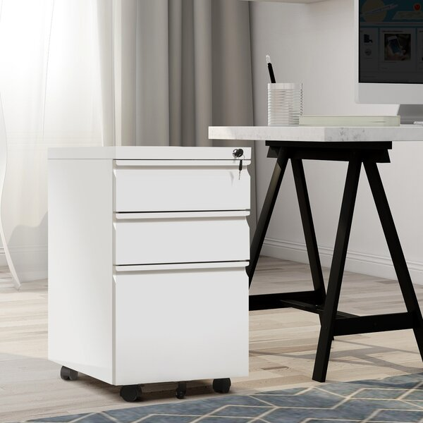 Kason 3 Drawer Mobile Vertical Filing Cabinet