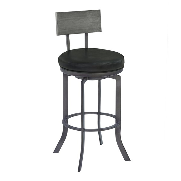 Justina 30 Swivel Bar Stool by 17 Stories