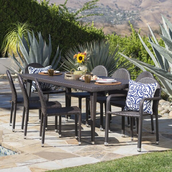 Rittenhouse Wicker Outdoor 9 Piece Dining Set by Brayden Studio