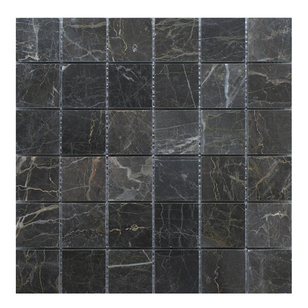 Nevada 2 x 2 Marble Mosaic Tile in Dark Gray by Seven Seas