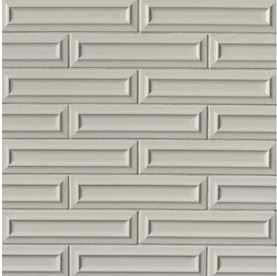 Portofino 3 x 12 Beveled Ceramic Subway Tile in Gray by Grayson Martin
