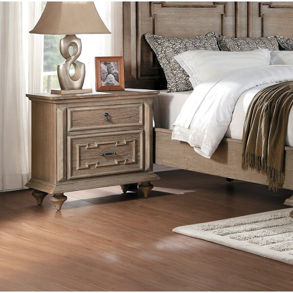 Alstrom 2 Drawer Nightstand by World Menagerie