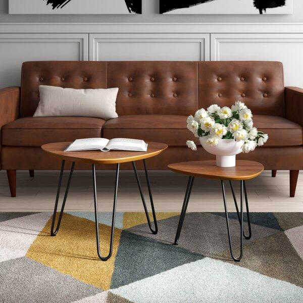 Labarge Hairpin Leg Wood 2 Piece Coffee Table Set By Mercury Row