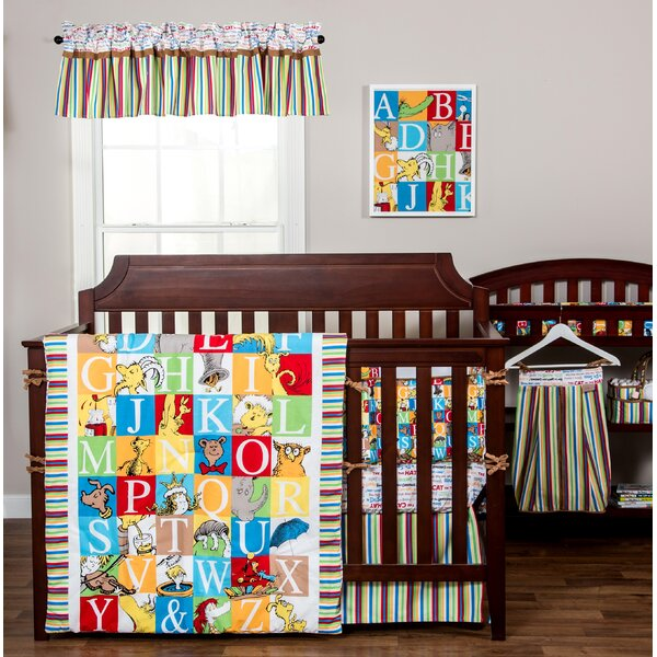 Dr. Seuss Alphabet Seuss Squares Fitted Crib Sheet by Trend Lab