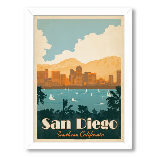 San Diego Southern California Framed Vintage Advertisement by East Urban Home