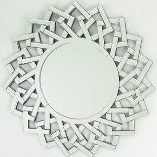 House of Hampton Halima Round Beveled Wall Mirror