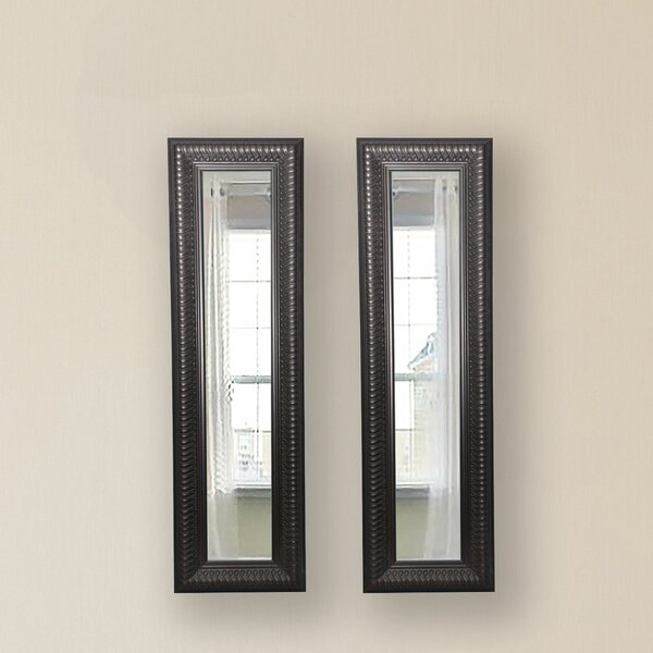 2 Piece Derrill Royal Curve Panels Mirror Set (Set of 2) by Astoria Grand