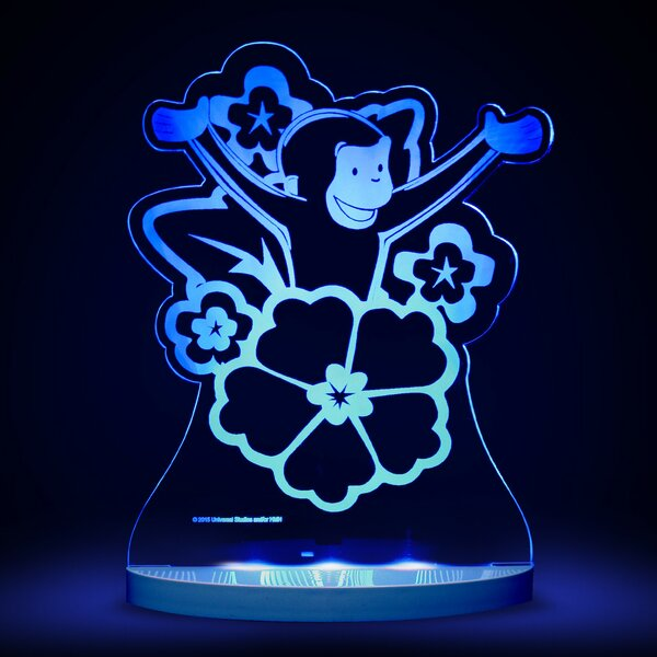Curious George with Flowers LED 3-Light Night Light by CompassCo