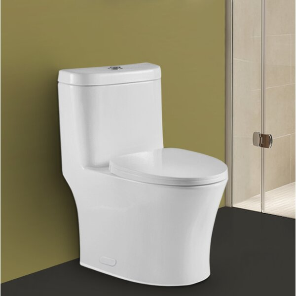 Betula Dual Flush Elongated One-Piece Toilet by Kevsal Inc