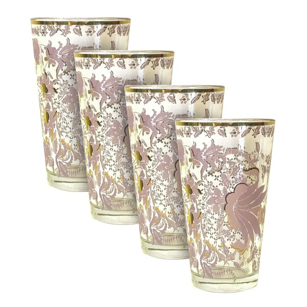 Tapestry Tumbler 16 oz. Every Day Glass (Set of 4) by Patina Vie