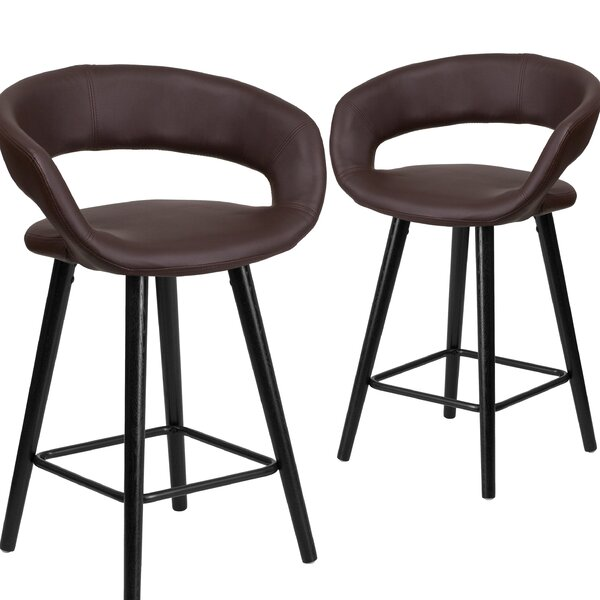 Palafox 24 Bar Stool (Set of 2) by Orren Ellis
