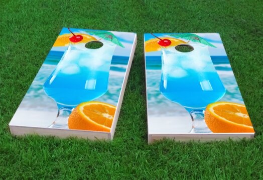 Blue Drink Cornhole Game (Set of 2) by Custom Cornhole Boards