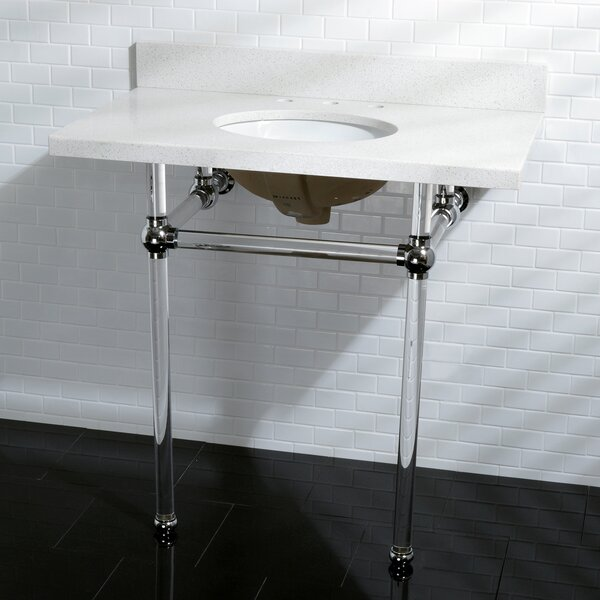 Templeton V 12 Console Bathroom Sink with Overflow by Kingston Brass