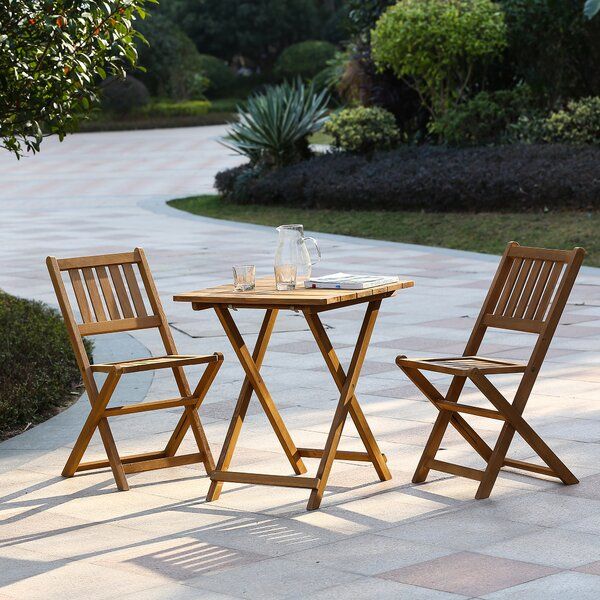 Chartier 3 Piece Bistro Set by Highland Dunes