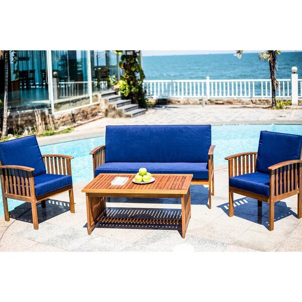 Osya Modern 4 Piece Sofa Seating Group with Cushions by Highland Dunes