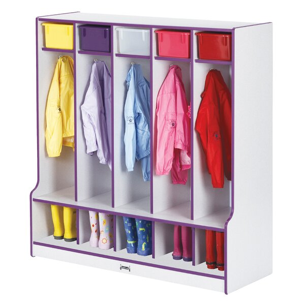 Rainbow Accent®s 3 Tier 5 Wide Coat Locker by Jonti-Craft