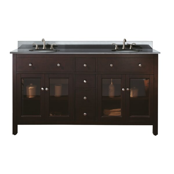 Menifee 61 Double Bathroom Vanity Set by Charlton Home