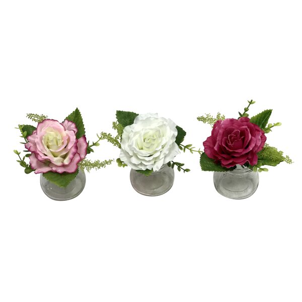 Rose Floral Arrangements (Set of 3) by Ophelia & Co.