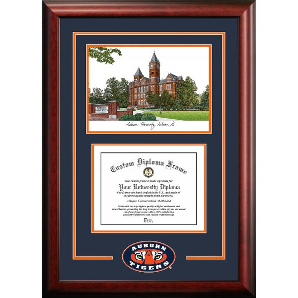 NCAA Auburn University Spirit Graduate Diploma with Campus Images Lithograph Picture Frame by Campus Images