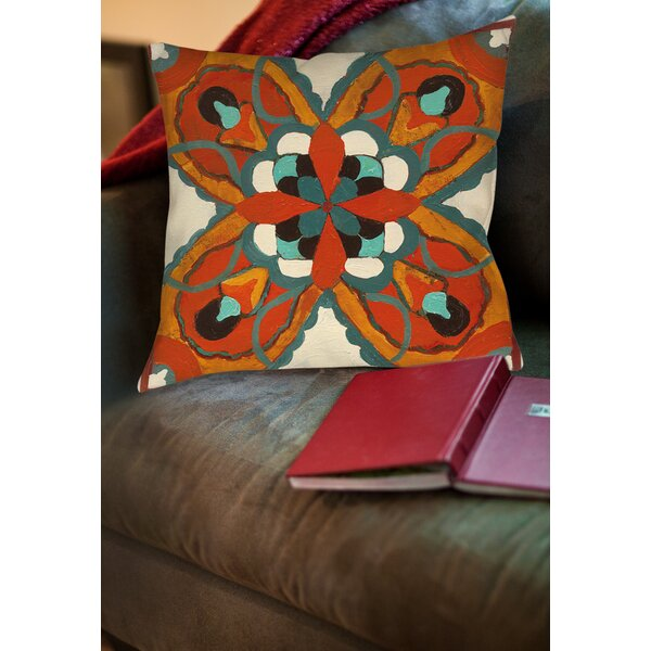 Laila 1 Printed Throw Pillow by Bloomsbury Market
