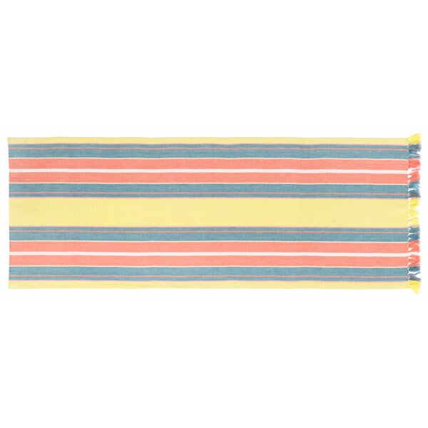 Hanh Striped Table Runner (Set of 2) by Highland Dunes