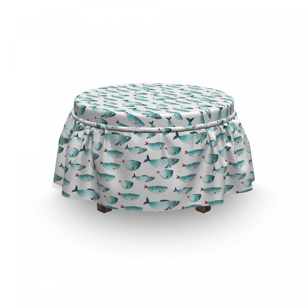 Sea Fish Ottoman Slipcover (Set Of 2) By East Urban Home