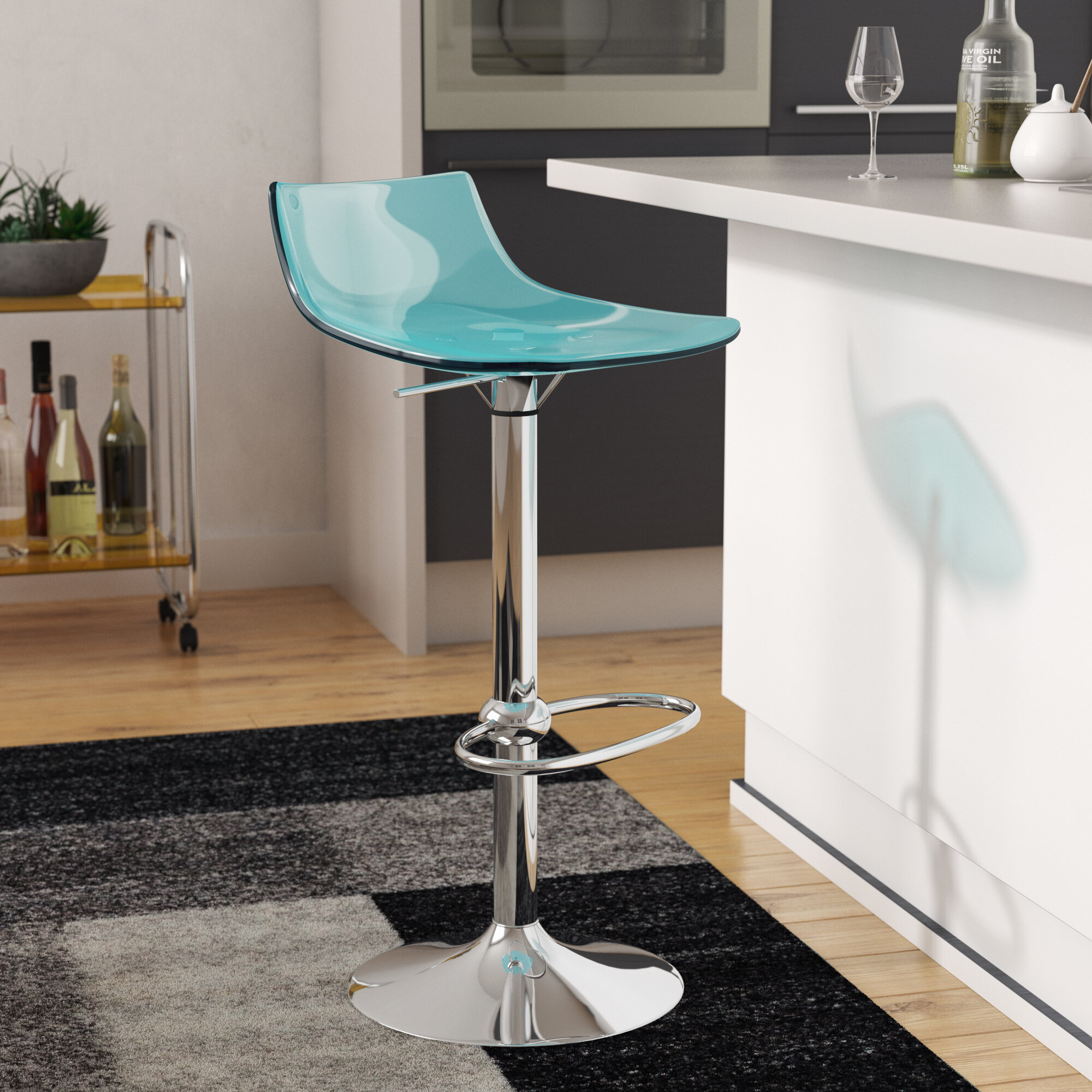 Superb Elizabeth Street Adjustable Height Swivel Bar Stool Ocoug Best Dining Table And Chair Ideas Images Ocougorg