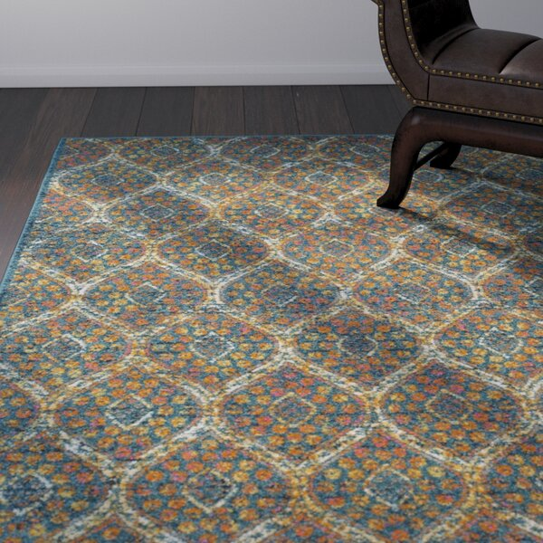 Grieve Blue Area Rug by Bungalow Rose