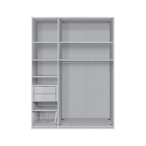 Schwebetürenschrank Elara LoftDesigns Größe: 150 cm B x 216 cm H x 68 cm T| Interior Fittings: Premium| Farbe: Türkis | Schlafzimmer > Kleiderschränke > Schwebetürenschränke | LoftDesigns