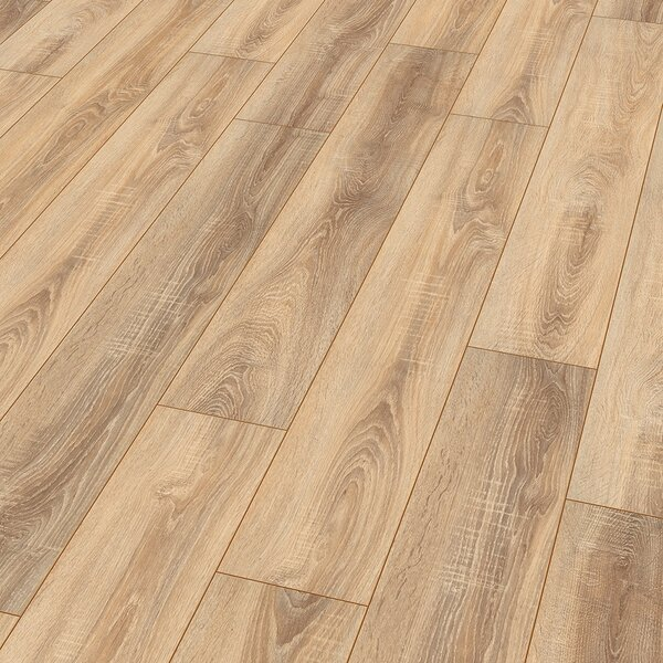 8 x 52 x 10mm Oak Laminate Flooring in Nostalgic Natural by ELESGO Floor USA