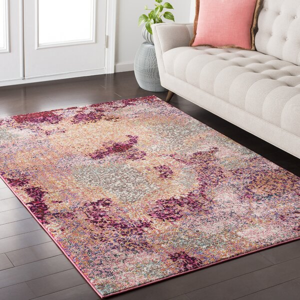 Andersonville Pink/Red Area Rug by Bungalow Rose