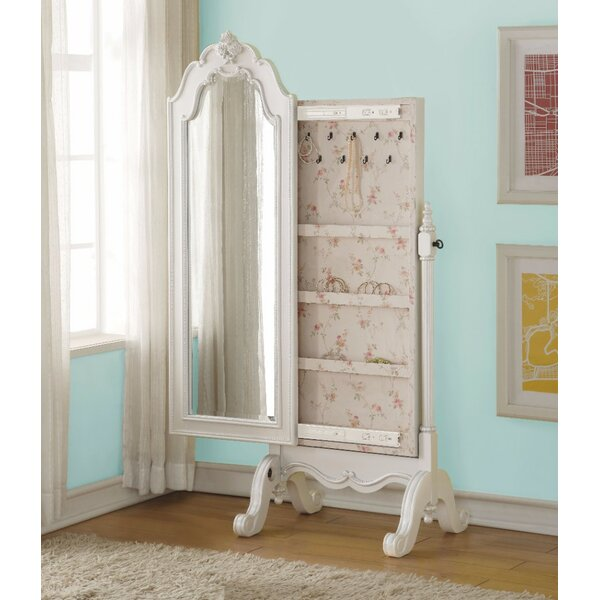 Lower Claverham Free Standing Jewelry Armoire with Mirror by Rosdorf Park
