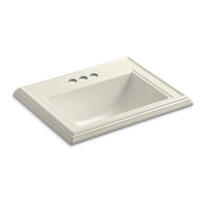 Drop Sink Ceramic Rectangular Overflow Faucetet photo