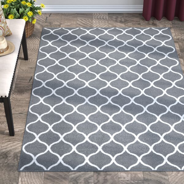 Hershman Gray Area Rug by Charlton Home