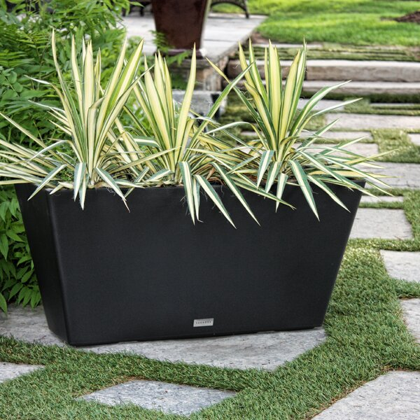 V-Resin Trough Plastic Planter Box by Veradek
