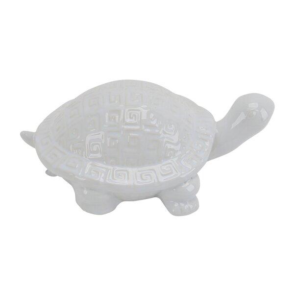Kobe Ceramic Turtle Figure by Highland Dunes