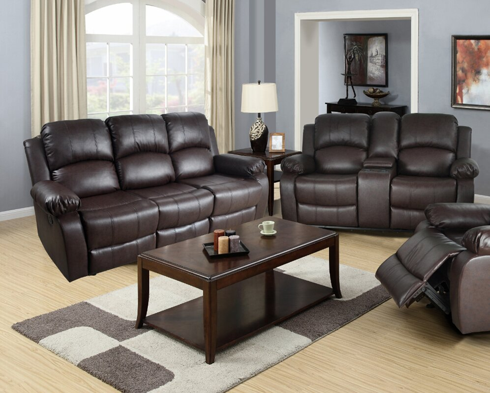 Red Barrel Studio Mayday 2 Piece Faux Leather Living Room Set ...