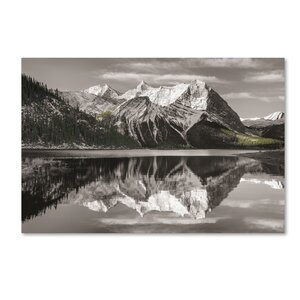 'Kananaskis Lake Reflection' Photographic Print on Wrapped Canvas by Trademark Fine Art