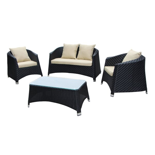 Julie 4 Piece Sofa Set with Cushions by Latitude Run