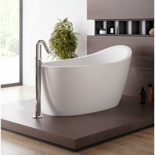 Emmanuelle Relax 66 x 35 Freestanding Air Bathtub by Aquatica