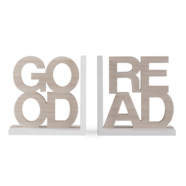 Good Read Bookends by Wrought Studio