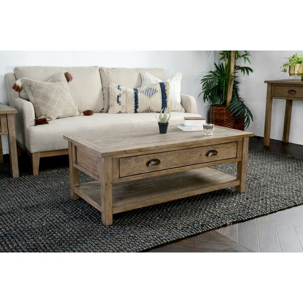 Enfield Driftwood Coffee Table with Storage by Highland Dunes Highland Dunes