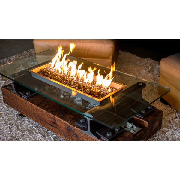 Trackside ™ Propane/Natural Gas Fire Pit Table by Music City Fire Company