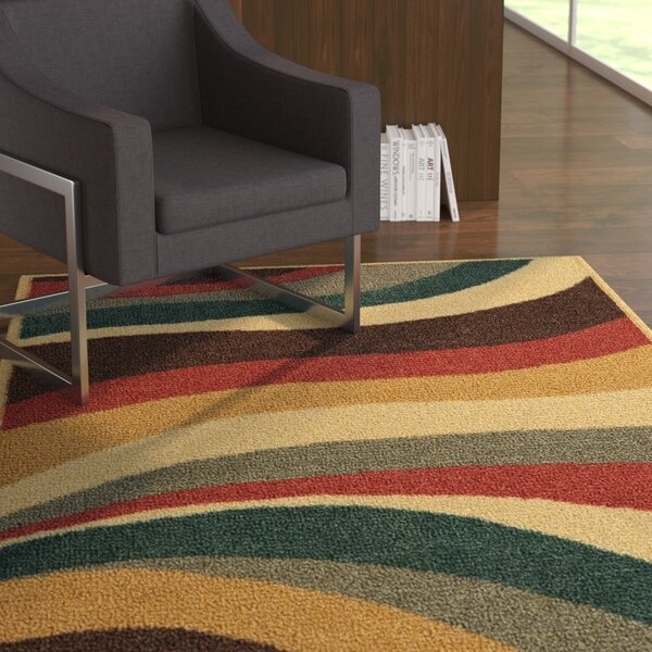 Pill Beige/Red Area Rug by Latitude Run