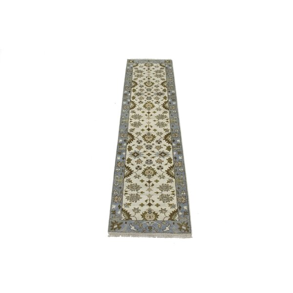 Arbay Hand Knotted Wool Cream Rug