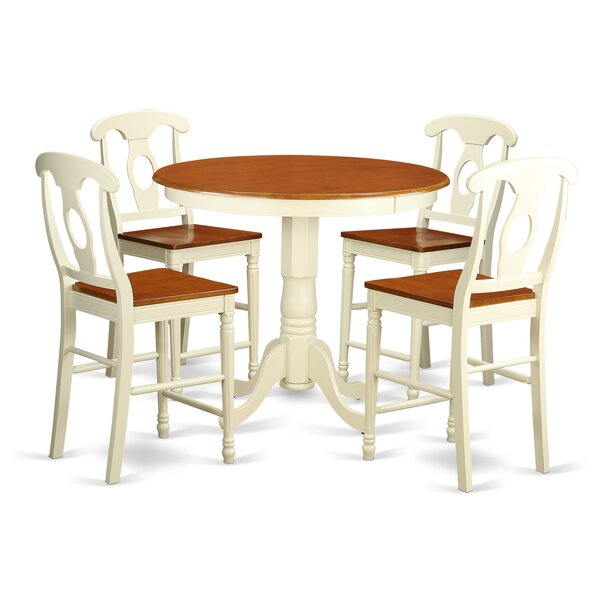 Smyth 5 Piece Counter Height Pub Table Set by Charlton Home