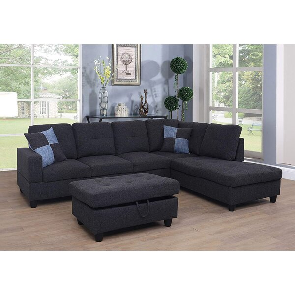 Meldrum Sectional with Ottoman by Latitude Run