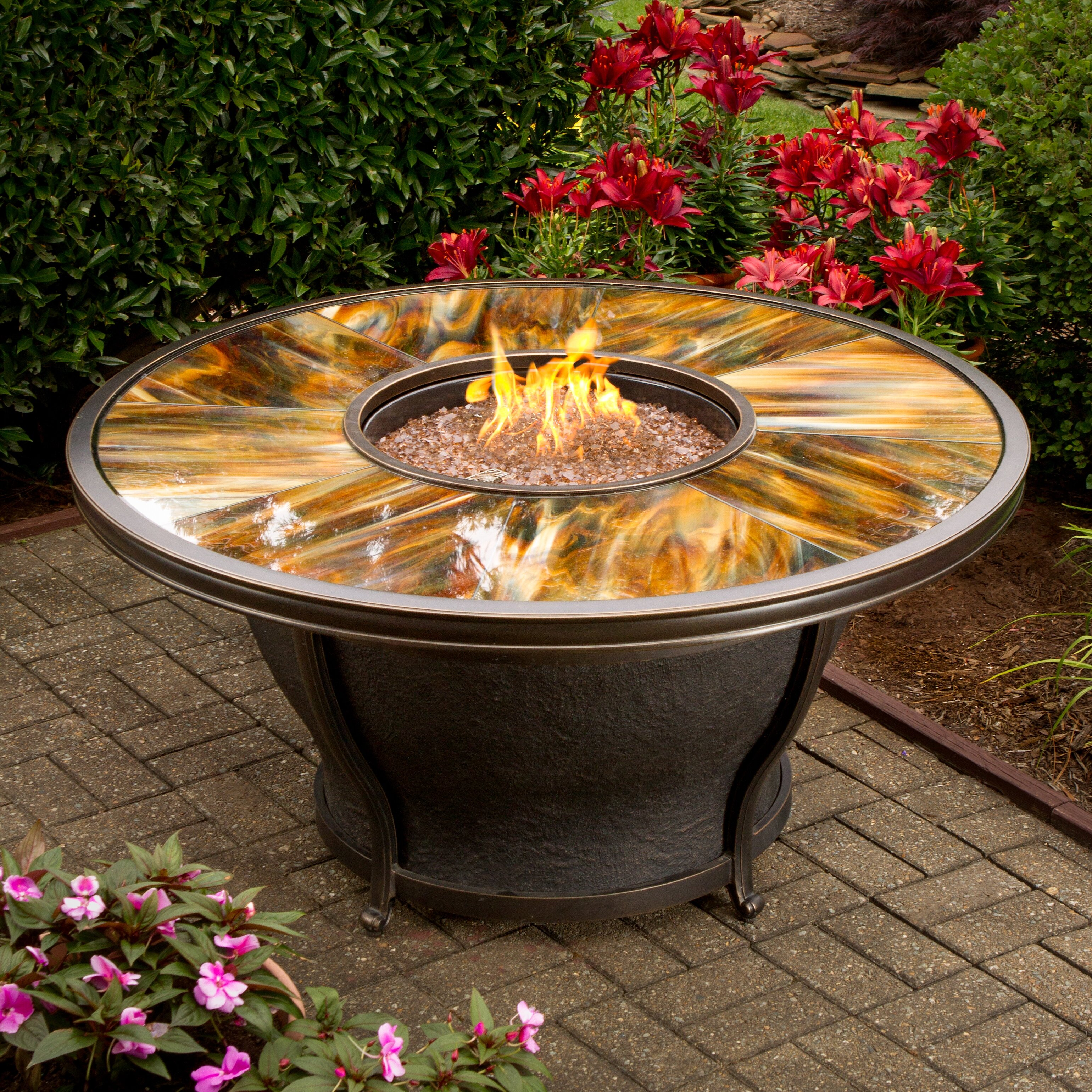 Valery Propane Gas Fire Pit Table